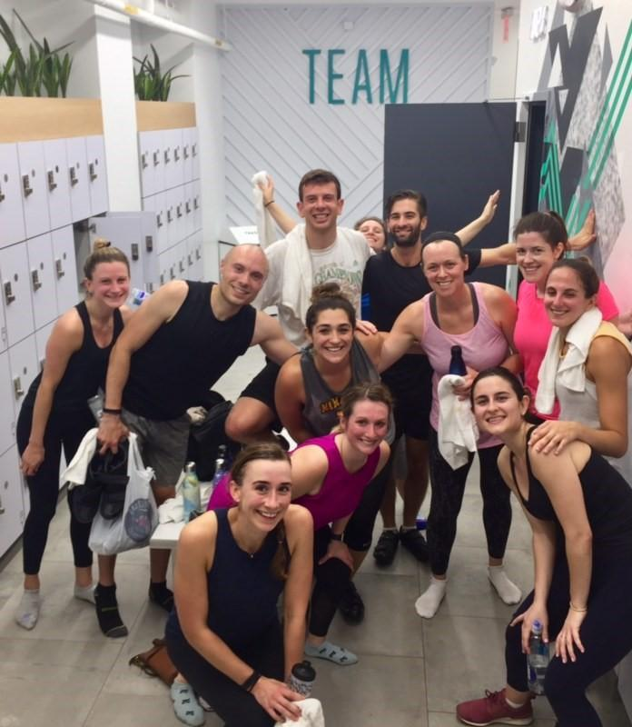 Weill Cornell Residents at workout class